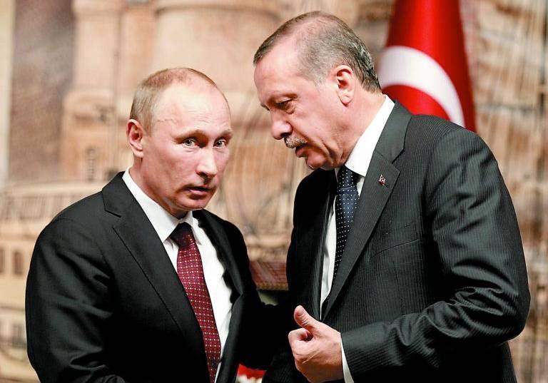 Президентите на Търция и Русия Реджеп Таийп Ердоган и Владимир