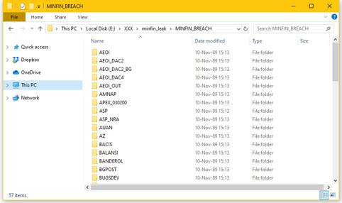 Факсимиле от качените данни в специализирания сайт за IT новини ZDNet.