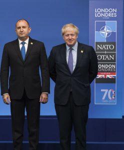 Румен Радев и британският премиер Борис Джонсън