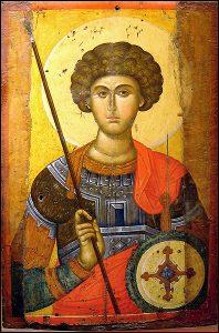 Св. Георги Победоносец. Икона от XIV век.