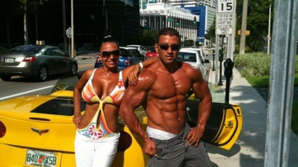 Николай и Анита по време на щастливите им години в САЩ.