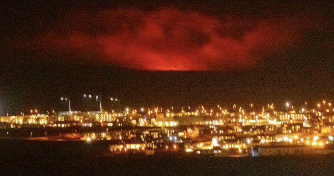 Вулкан изригна в Югозападна Исландия. Изригването е станало близо до