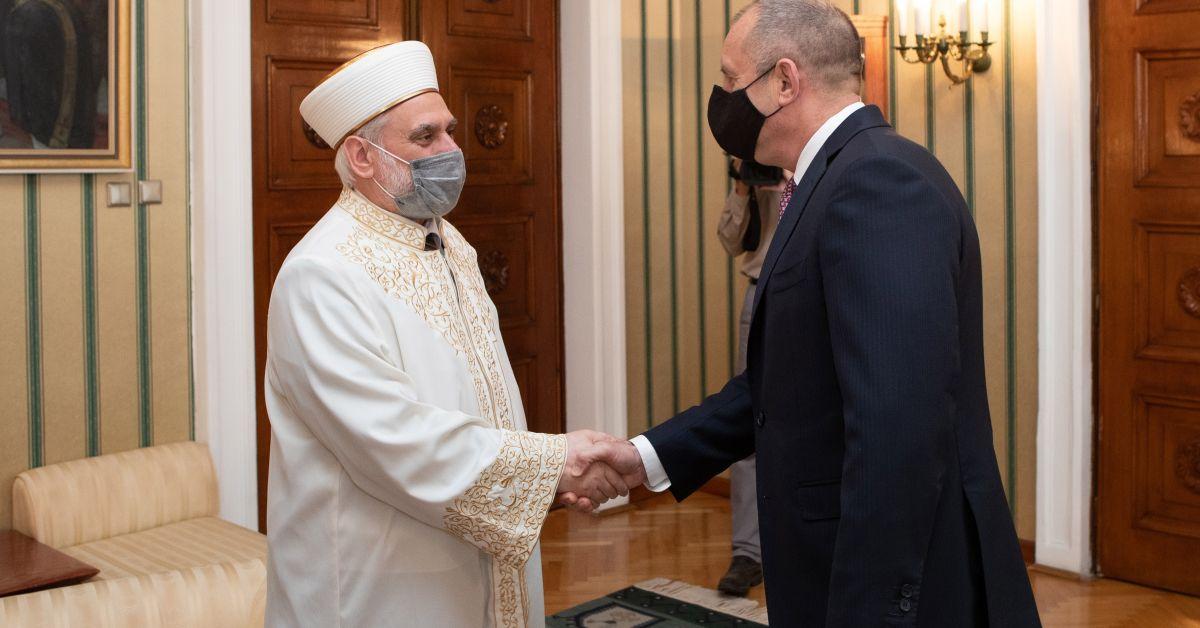 Президентът Румен Радев се срещна днес с Главния мюфтия на