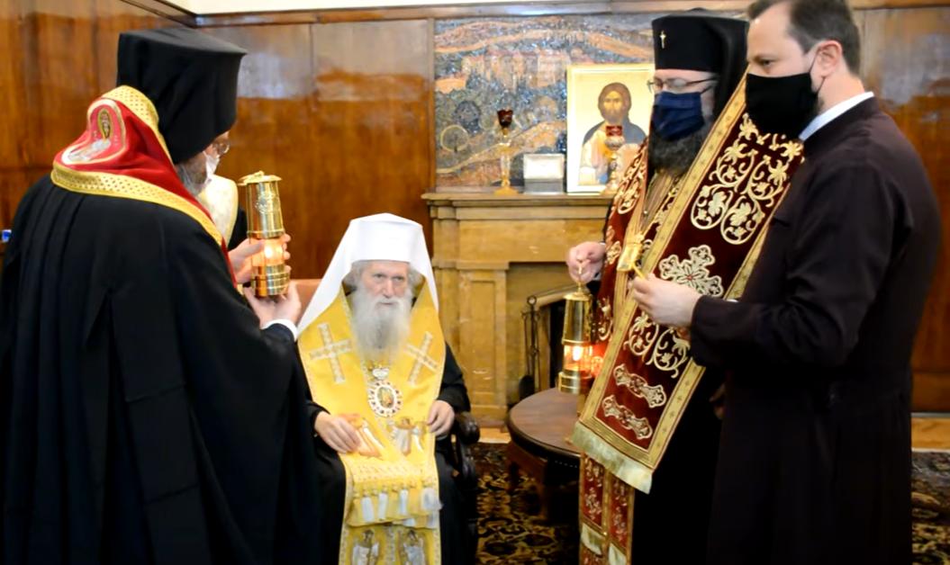Негово Светейшество Българският патриарх Неофит получи Благодатния огън от Йерусалим,
