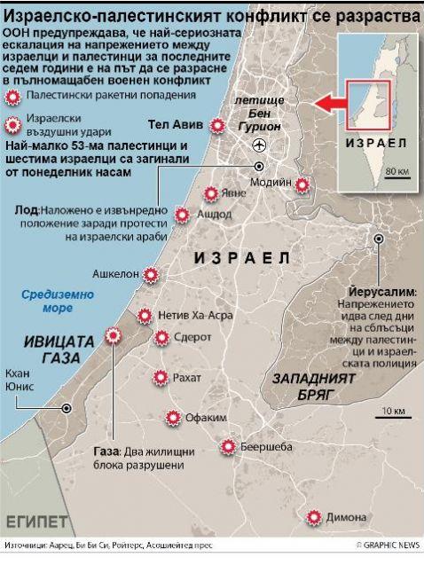 Преди вероятна сухопътна операцияИзраелският министър на отбраната Бени Ганц разпореди
