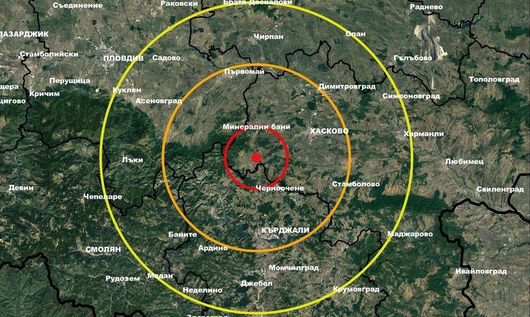 Земетресение с магнитуд 3,4 по Рихтер е регистрирано на 17.05.2021