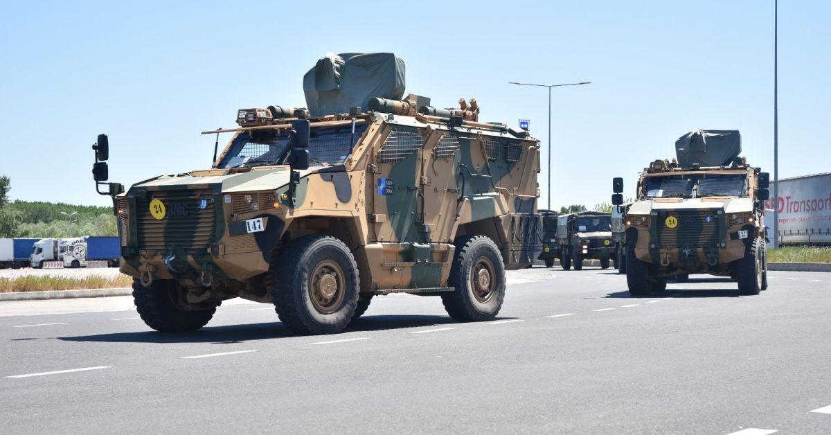 Шест военни конвоя на НАТО, които ще участват в учението