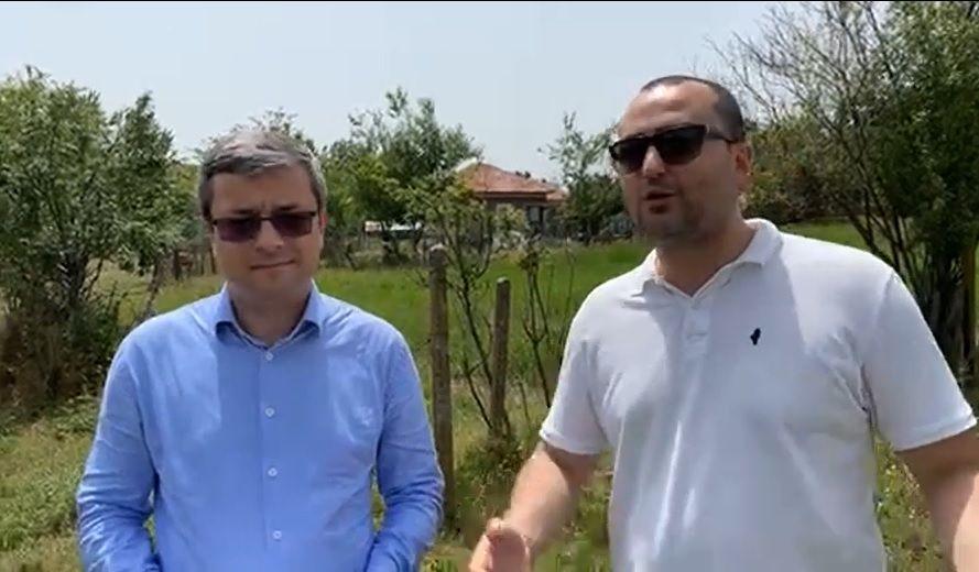 Представителите и кандидат-депутати на ГЕРБ Тома Биков и Александър Иванов