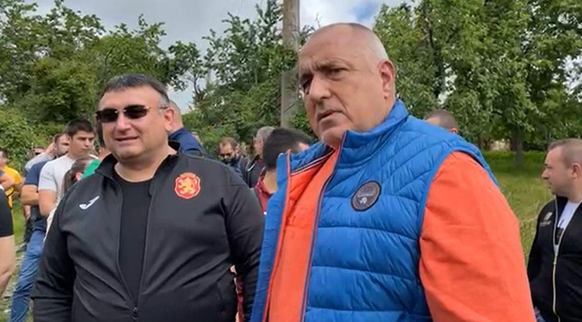 Лидерът на ГЕРБ и бивш министър-председател Бойко Борисов е на