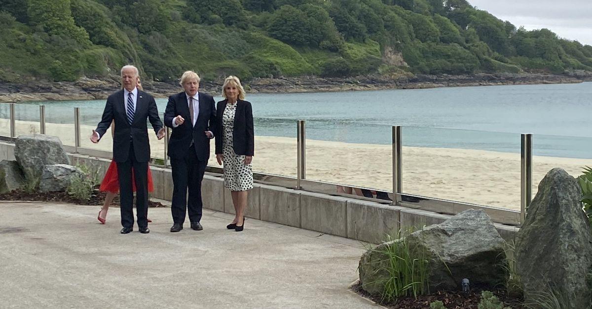 Британският премиер Борис Джонсън посрещна днес президента на САЩ Джо