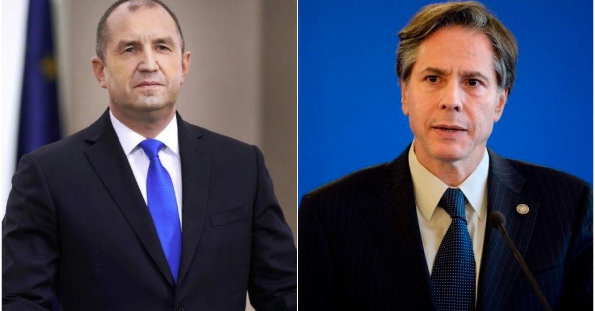 Президентът Румен Радев проведе днес телефонен разговор с държавния секретар