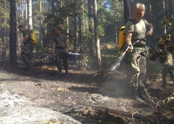 Три модула за гасене на пожари от военни формирования от