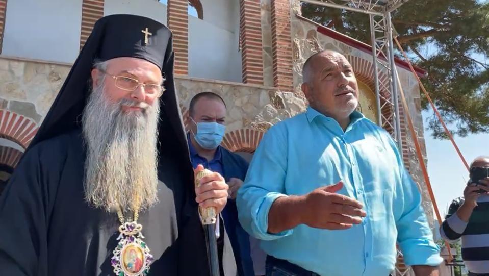 Митрополит Николай благослови лидера на ГЕРБ и му благодари за