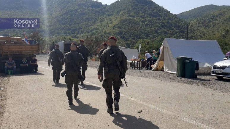 Войници на КФОР се появиха днес близо до граничния пункт